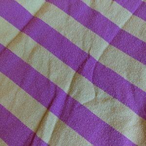 Mini Boden Shirts & Tops - Mini Boden Purple & Green Striped Shirt